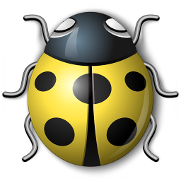 Bug Yellow Icon 256x256