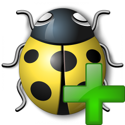 Bug Yellow Add Icon 256x256