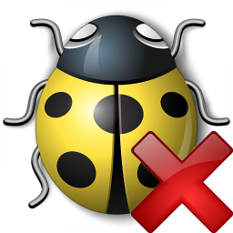Bug Yellow Delete Icon 256x256