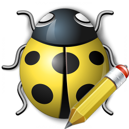 Bug Yellow Edit Icon 256x256