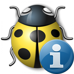 Bug Yellow Information Icon 256x256