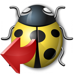 Bug Yellow Out Icon 256x256