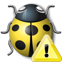 Bug Yellow Warning Icon 256x256