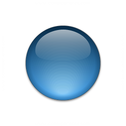 IconExperience » V-Collection » Bullet Ball Glass Blue Icon