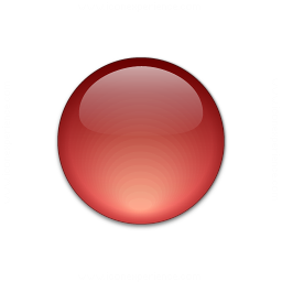 Bullet Ball Glass Red Icon 256x256