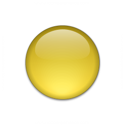 Bullet Ball Glass Yellow Icon 256x256