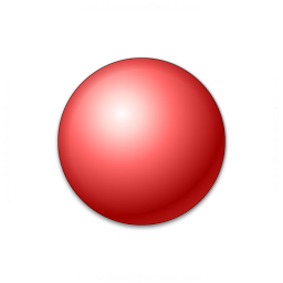 Bullet Ball Red Icon 256x256