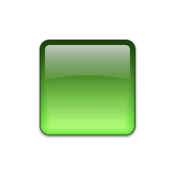 Bullet Square Glass Green Icon 256x256