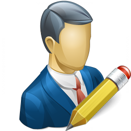 Businessman Edit Icon 256x256