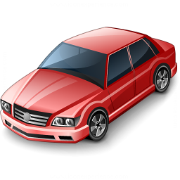 Car Sedan Red Icon 256x256
