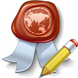 Certificate Edit Icon 256x256