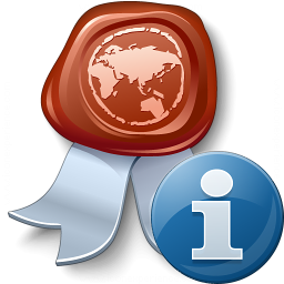 Certificate Information Icon 256x256