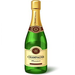Champagne Bottle Icon 256x256
