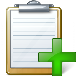 Clipboard Add Icon 256x256