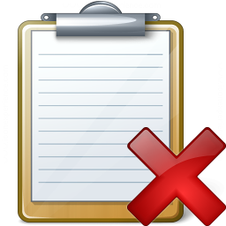 Clipboard Delete Icon 256x256