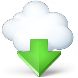 Cloud Computing Download Icon 256x256