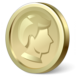 Coin Gold Icon 256x256