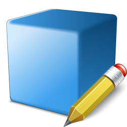 Cube Blue Edit Icon 256x256