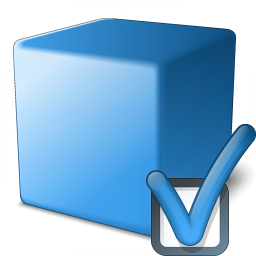 Cube Blue Preferences Icon 256x256