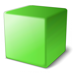 Cube Green Icon 256x256