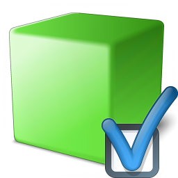 Cube Green Preferences Icon 256x256
