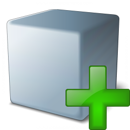 Cube Grey Add Icon 256x256