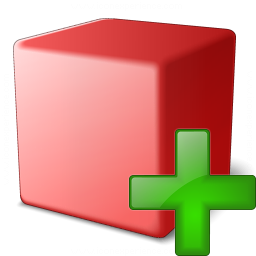 Cube Red Add Icon 256x256