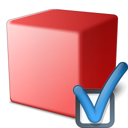 Cube Red Preferences Icon 256x256