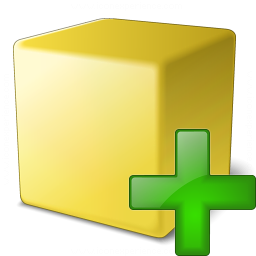 Cube Yellow Add Icon 256x256