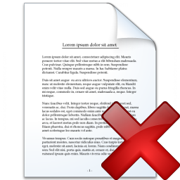 Document Delete Icon 256x256