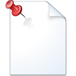 Document Pinned Icon 256x256
