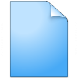 Iconexperience V Collection Document Plain Blue Icon