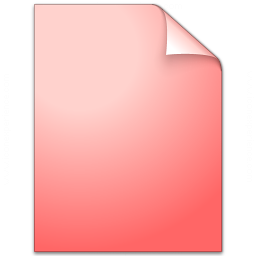 Document Plain Red Icon 256x256