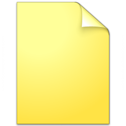 Document Plain Yellow Icon 256x256