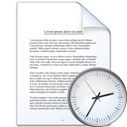 Document Time Icon 256x256