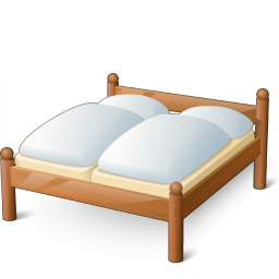 Double Wooden Bed Icon 256x256