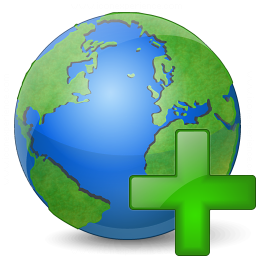 Earth Add Icon 256x256
