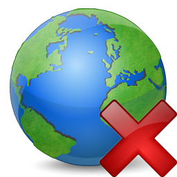 Earth Delete Icon 256x256