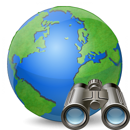 Earth Find Icon 256x256