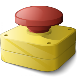 Emergency Stop Button Icon 256x256