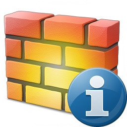 Firewall Information Icon 256x256