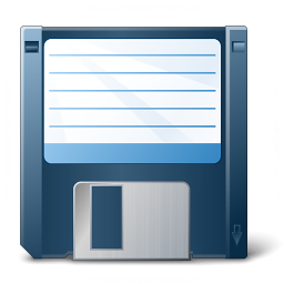 Floppy Disk Blue Icon 256x256