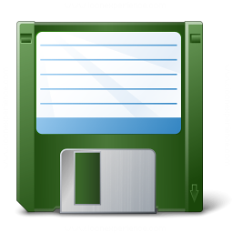 Floppy Disk Green Icon 256x256