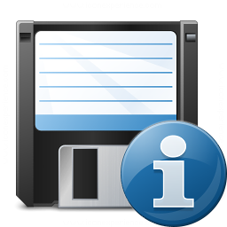 Floppy Disk Information Icon 256x256