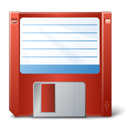 Floppy Disk Red Icon 256x256