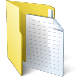 Folder 3 Document Icon 256x256