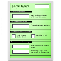 Form Green Icon 256x256