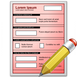 Form Red Edit Icon 256x256