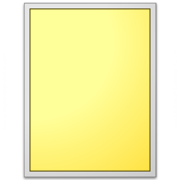 Form Yellow Plain Icon 256x256