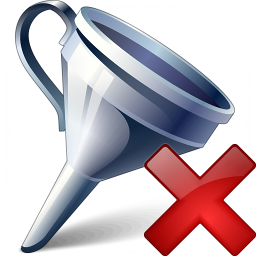 Funnel Delete Icon 256x256